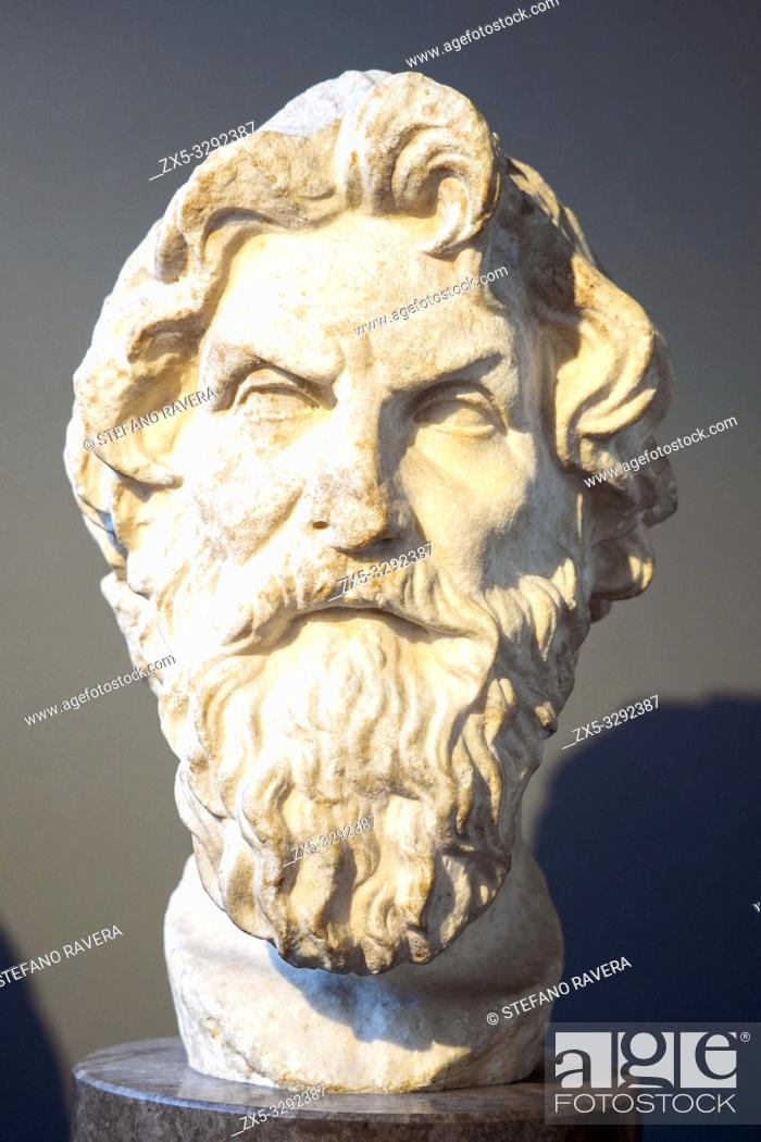 Imagen: Marble head of Antisthenes (c. 450-370 BC). Roman copy after a lost Greek original of the third or second century BC. from near the via Appia, Rome.
