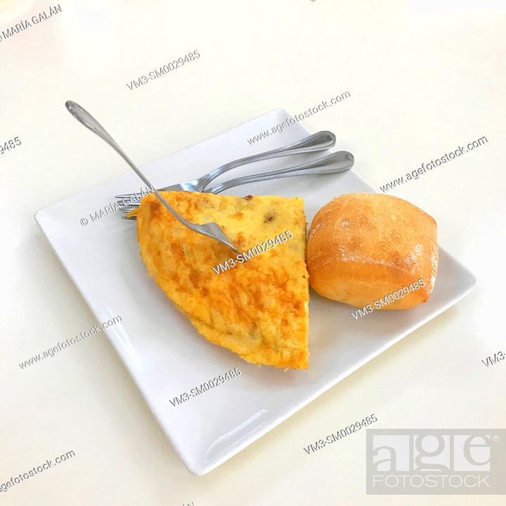 Stock Photo: Spanish omelet. Spain.