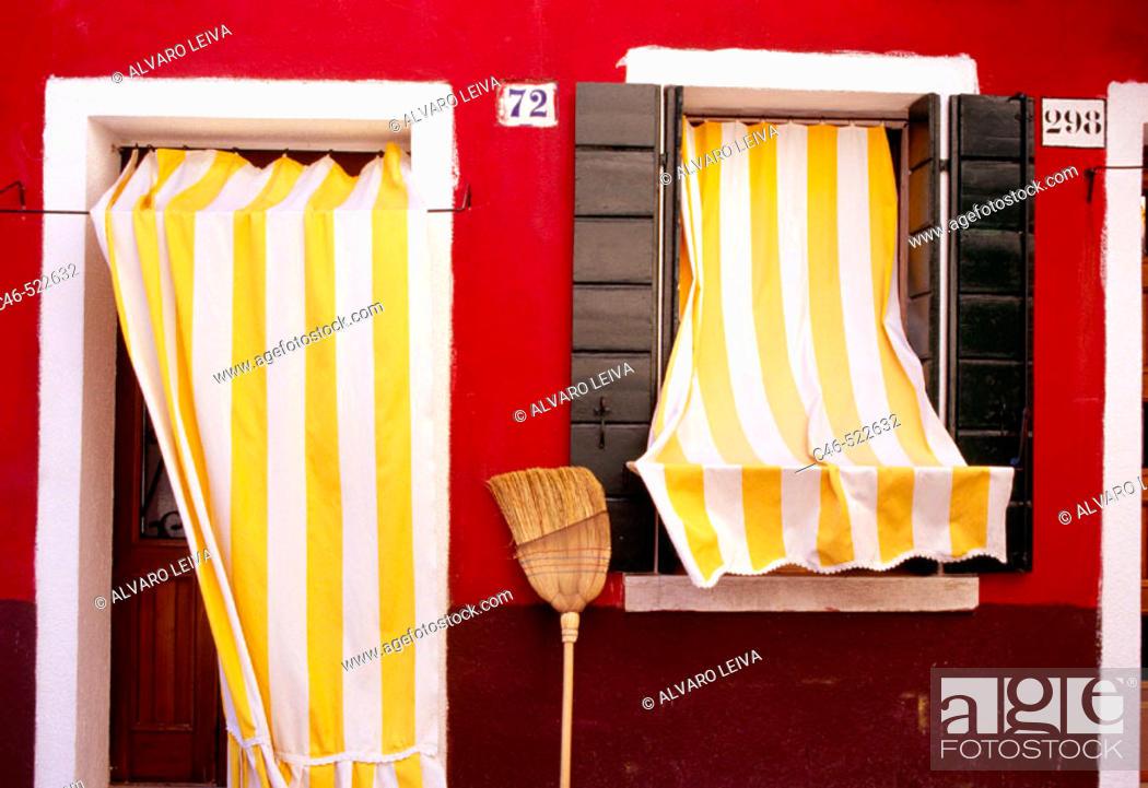 Stock Photo: Burano Island. Venice. Veneto, Italy.