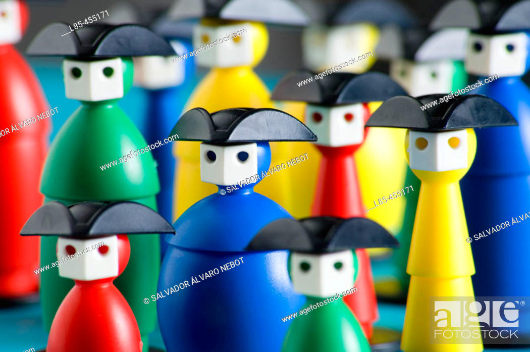 Stock Photo: Board game pieces based on the Venice Carnival.