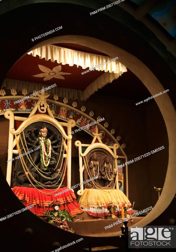 Stock Photo: Statue of goddess Kali in a temple, Kolkata, West Bengal, India.