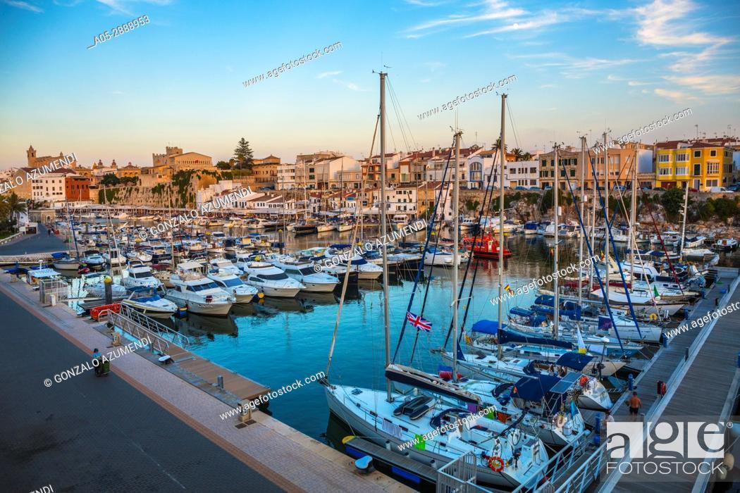 Imagen: Port. Ciutadella. Minorca. Balearic Islands. Spain.