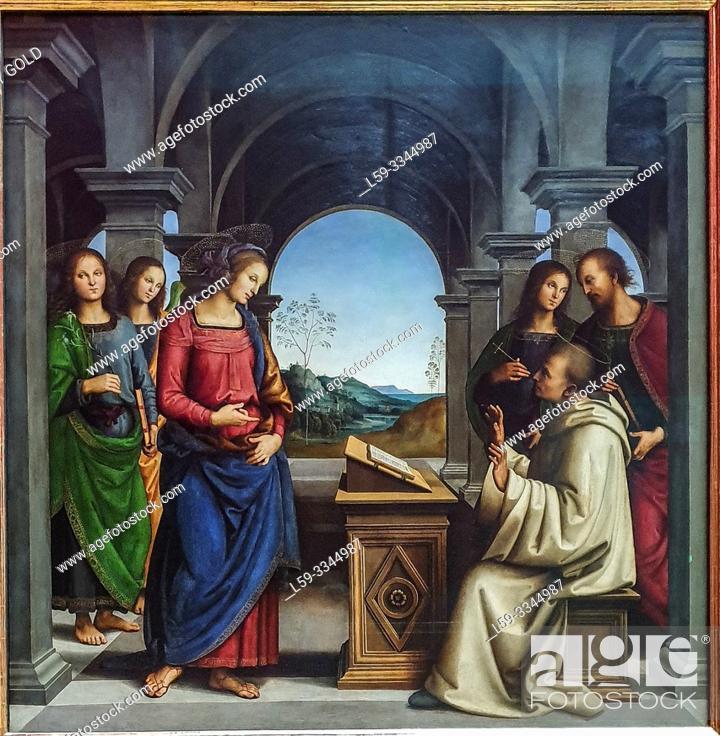 Imagen: 'The Vision of St. Bernard', 1489/90, by Pietro Perugino (1450-1523).