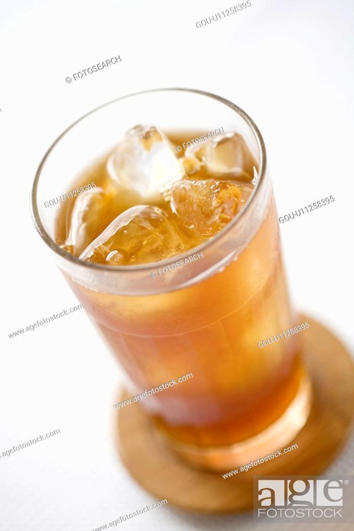 Stock Photo: Iced tea.