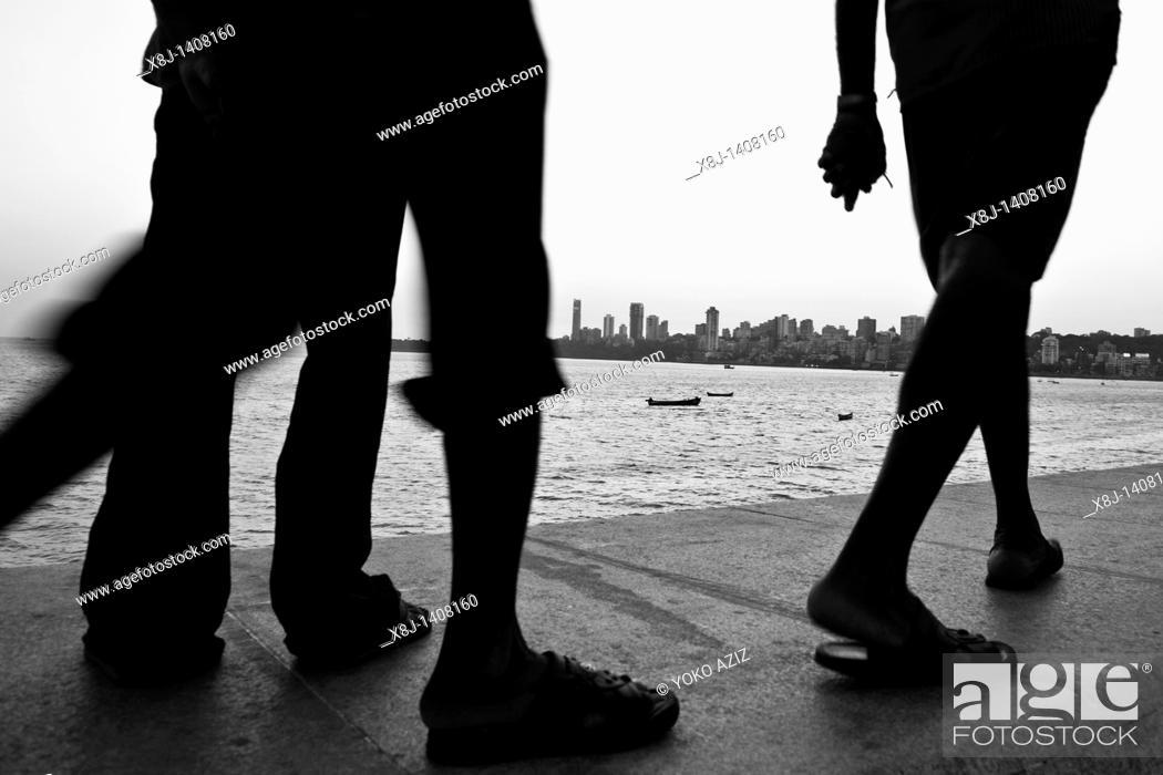 Stock Photo: Walking, Mumbai, India.