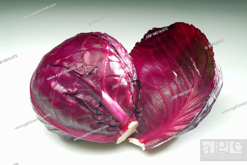 Stock Photo: Food, vegetables, purple cabbage.