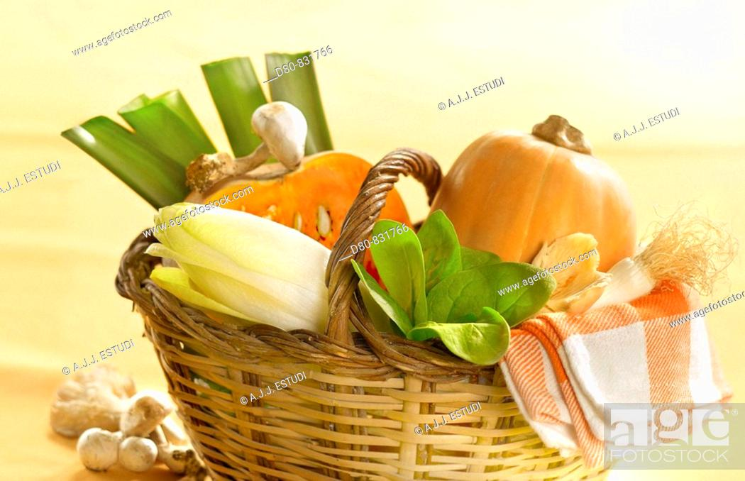 Stock Photo: Vegetables.