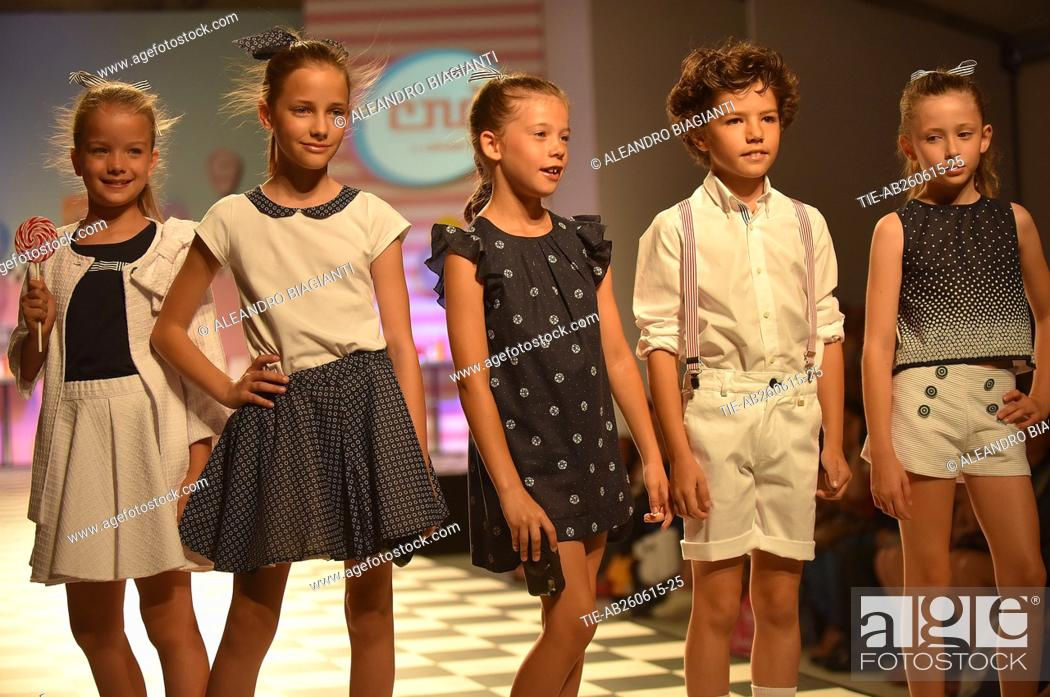 Pitti Kids Fashion Show Children S Fashion From Spain Models On Catwalk Florence Stock Photo Picture And Rights Managed Image Pic Tie Ab260615 25 Agefotostock