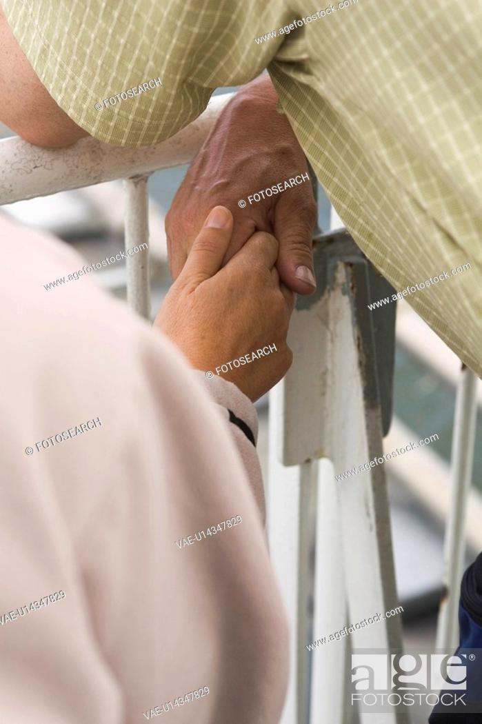Stock Photo: Close-Up, Holding Hands, Human Hand, Leaning, Midsection.