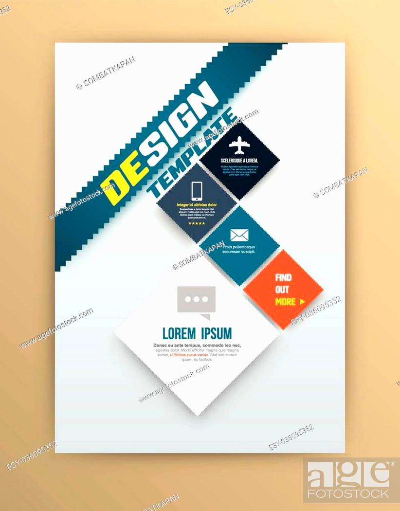 Stock Vector: Vector brochure design template, flyer layout, magazine cover & poster template. Vector illustration. Can use for printing and web.