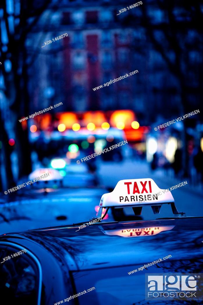 Stock Photo: Taxi, Paris, France.
