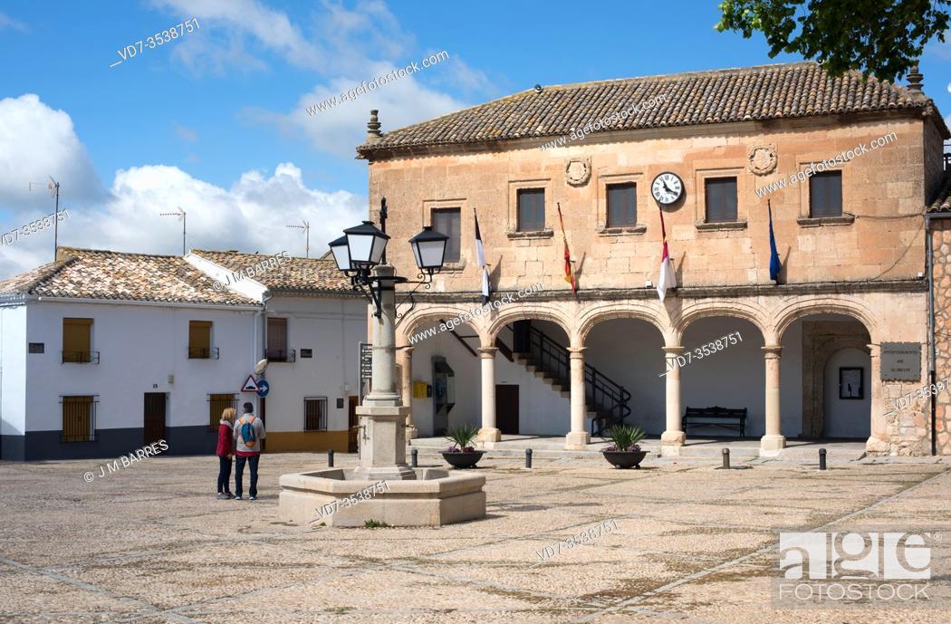 Stock Photo: Alarcon, city hall. Cuenca province, Castilla-La Mancha, Spain.