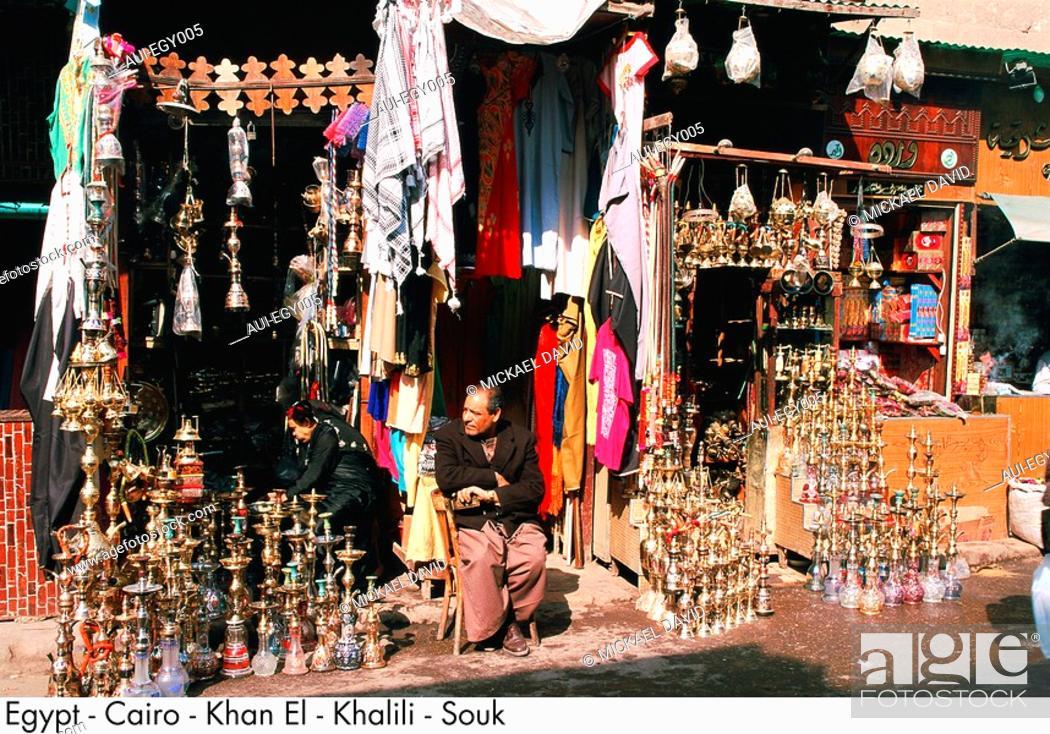 Stock Photo: Egypt - Cairo - Khan El - Khalili - Souk.