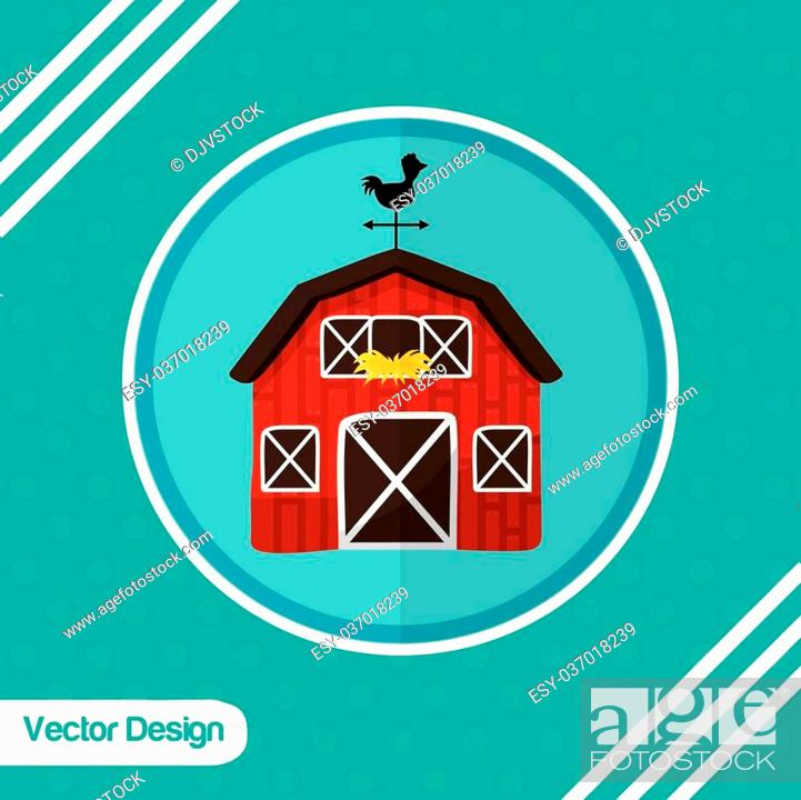 Stock Vector: Farm concept with stable icons design, vector illustration 10 eps graphic.