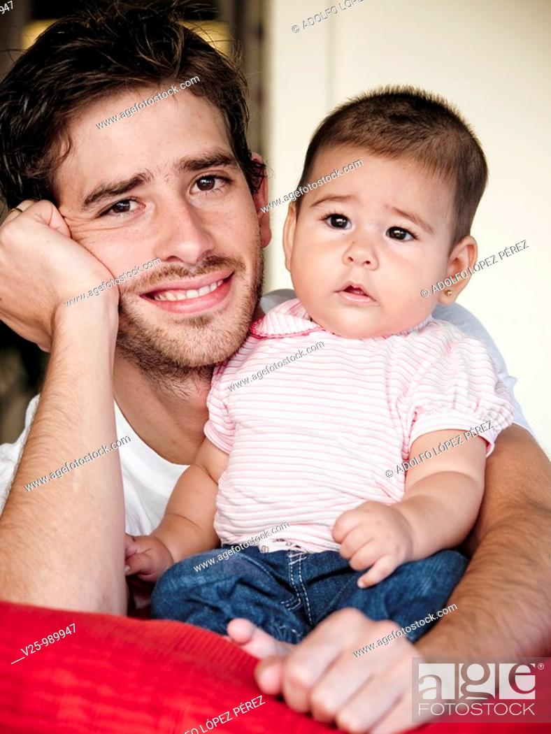 Stock Photo: Padre e hija.