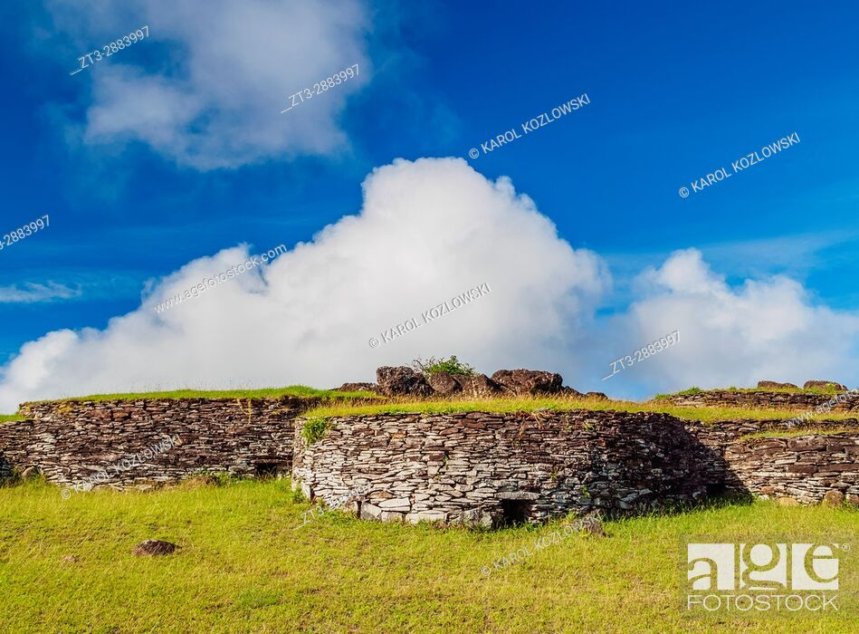 Stock Photo: Orongo Village, Rapa Nui National Park, Easter Island, Chile.