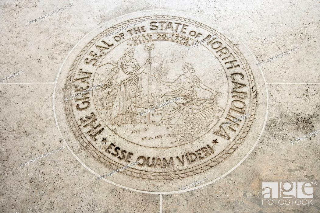 Stock Photo: Seal of North Carolina in Fort Bonifacio, Manila, Philippines.