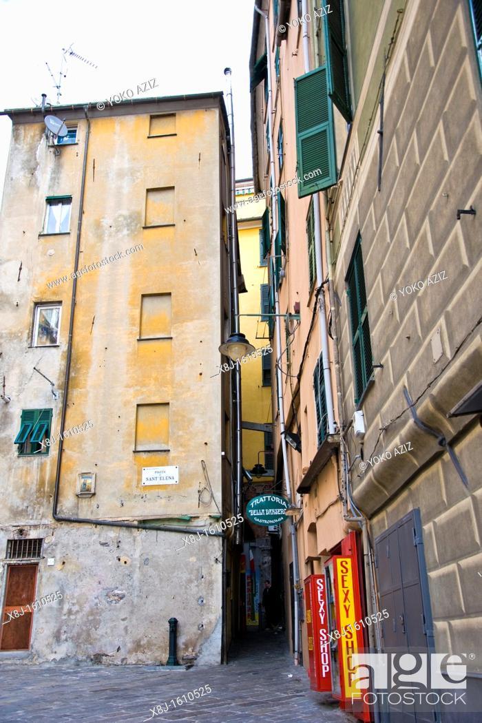 Stock Photo: Traditional house, Genoa, Liguria, Italy.
