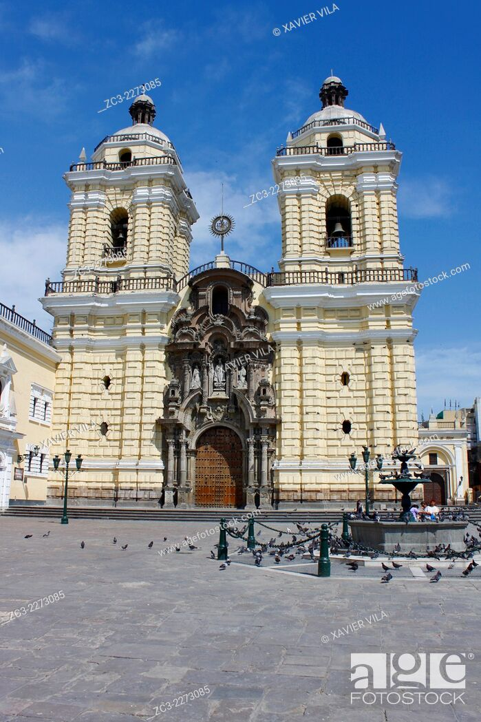 Stock Photo: Church and Convent of San Francisco de Lima, Monastery of St. Francis, Lima, Peru.