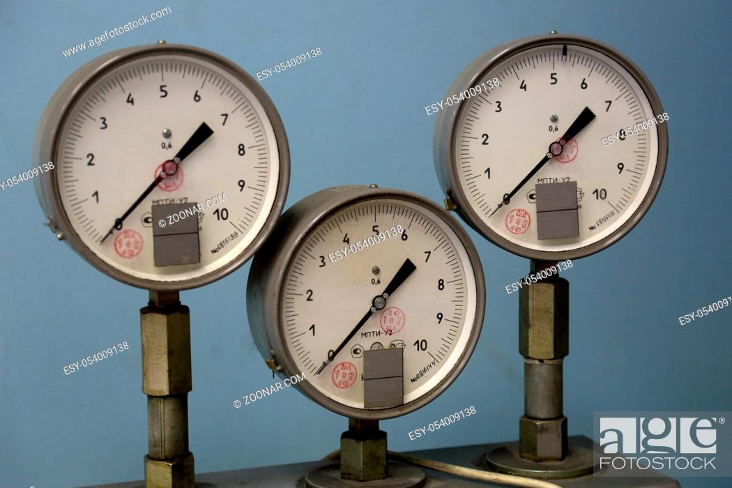 Stock Photo: MOSCOW, RUSSIA - MAY 11, 2018: Measuring equipment of the Moscow Brake Factory.