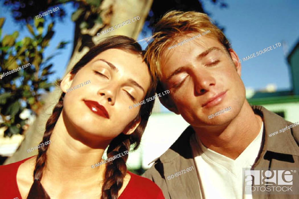 Stock Photo: Teenage couple.