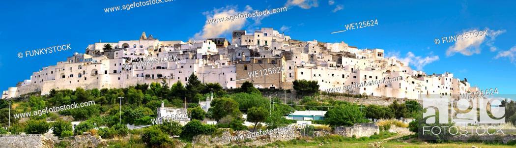Stock Photo: The white city of Ostuni, Puglia, South Italy.