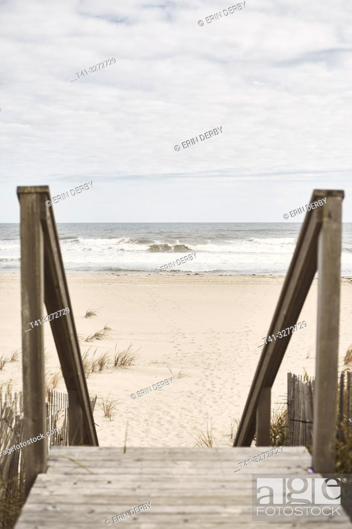 Stock Photo: Looking down steps towards the beach.
