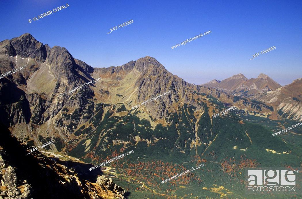 Stock Photo: The valley of Zelene pleso, High Tatras, Slovakia.