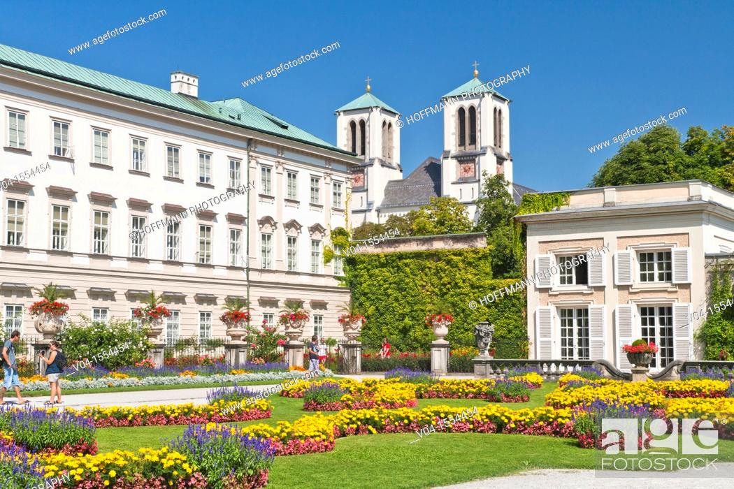 Stock Photo: Mirabell Palace and Gardens in Salzburg, Austria, Europe.