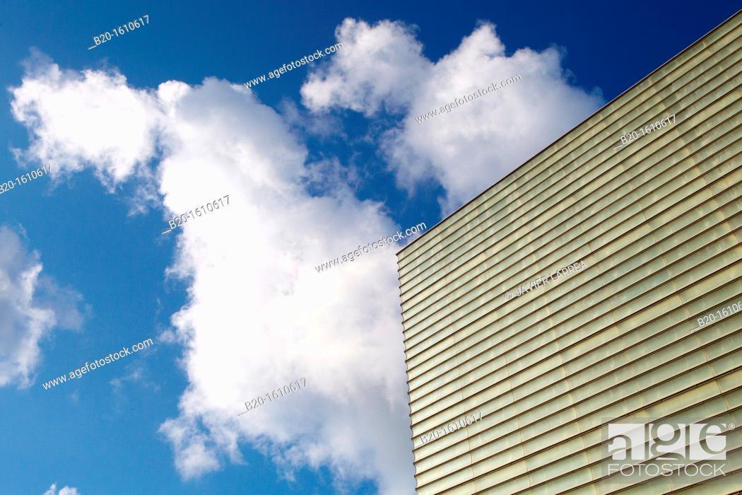 Stock Photo: Building Kursaal Congress Centre, Donostia, San Sebastian, Gipuzkoa, Basque Country, Spain.