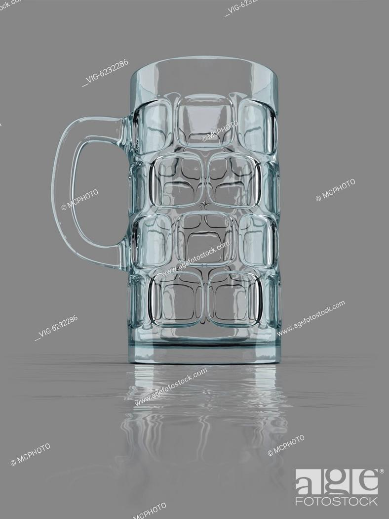 Stock Photo: An image of a typical bavarian big beer glass - 01/01/2018.