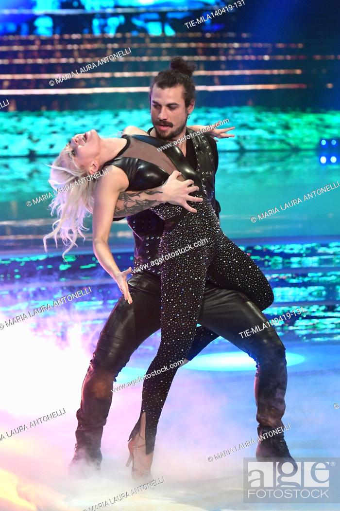 Stock Photo: Dani Osvaldo during the performance at the talent show ' Ballando con le stelle ' (Dancing with the stars) Rome, ITALY-14-04-2019.