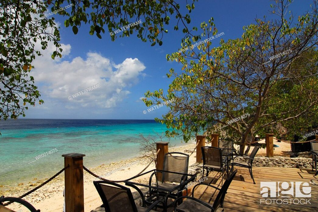 Imagen: Terrace with Ocean View, Caribbean Sea, Netherland Antilles, Curacao.