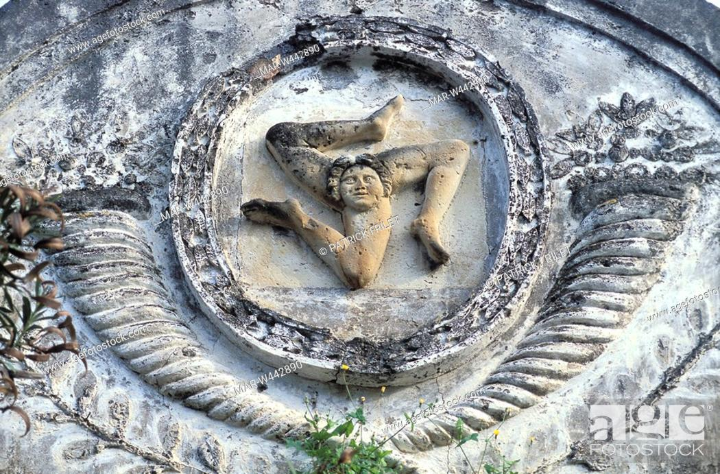 Triskelion Symbol Of Sicily Sicily Italy Stock Photo Picture And