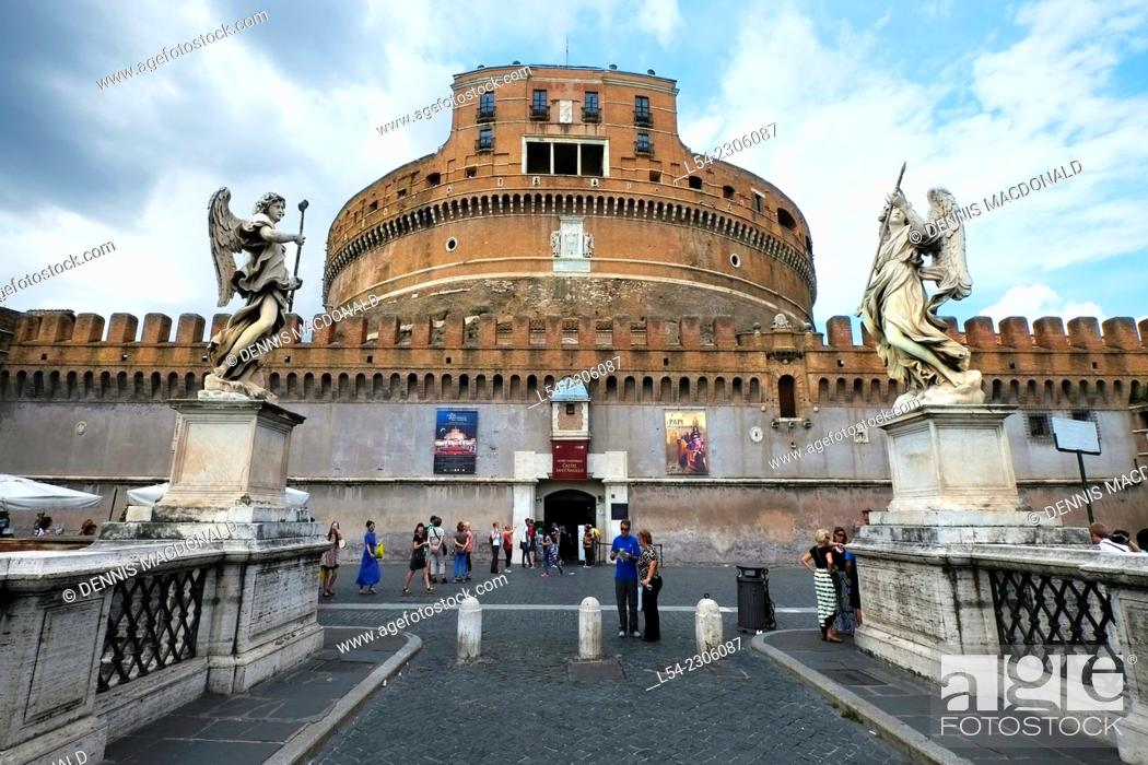 Stock Photo: Hadrian's Mausoleum Castle St. Angelo Rome Italy IT EU Europe.