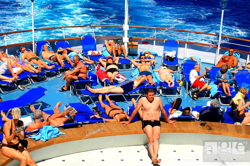 Stock Photo: Bath passport on the cruise ship Coral, Louis Cruise LINEs !.