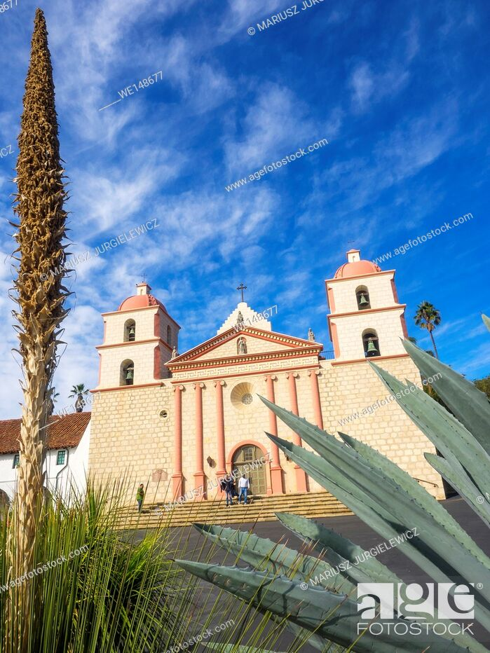 Stock Photo: Mission Santa Barbara is a Spanish mission founded by the Franciscan order near present-day Santa Barbara, California.