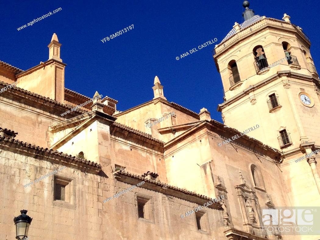 Stock Photo: Lorca cathedral, Murcia Province, Spain.
