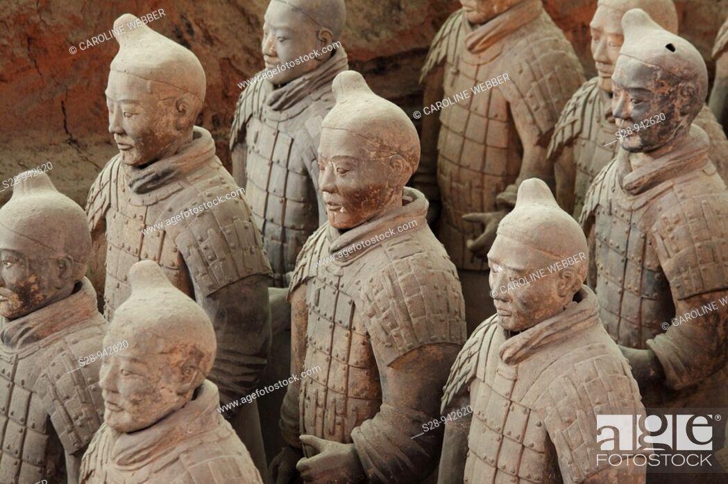 Stock Photo: Terra Cotta Warriors in Xi'an China.