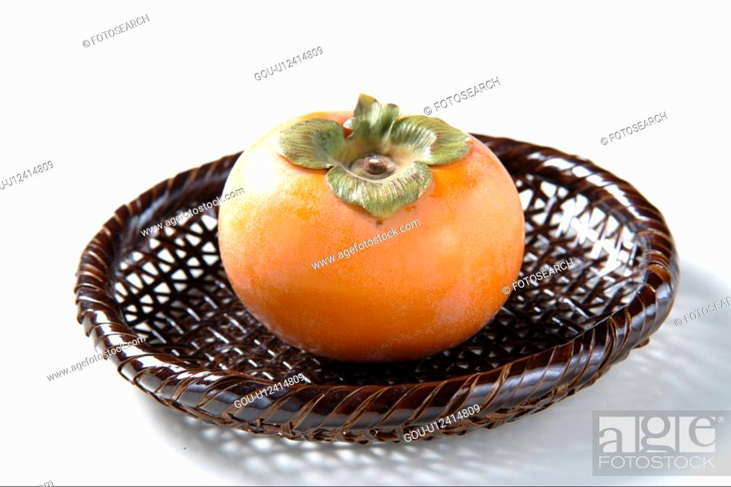 Stock Photo: Persimmon.