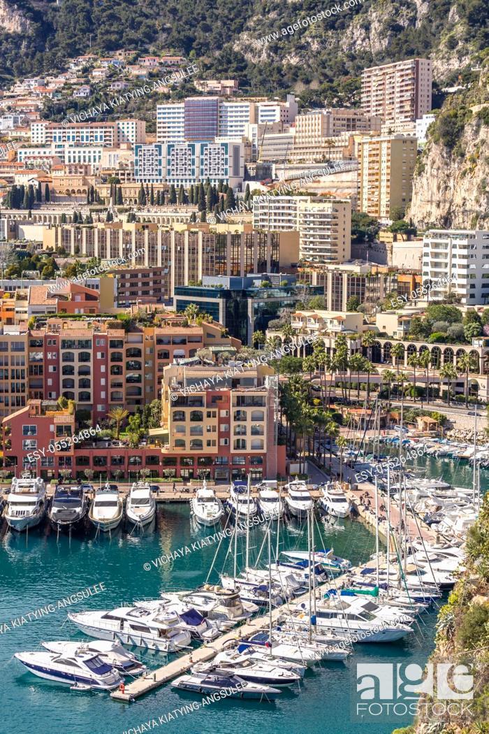 Imagen: Monaco Fontvieille cityscape Monte carlo French Riviera.