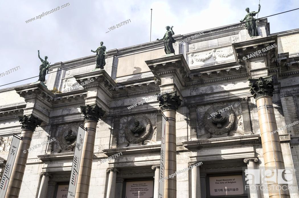 Stock Photo: Royal Museums of Fine Arts of Belgium, Brussels, Belgium.