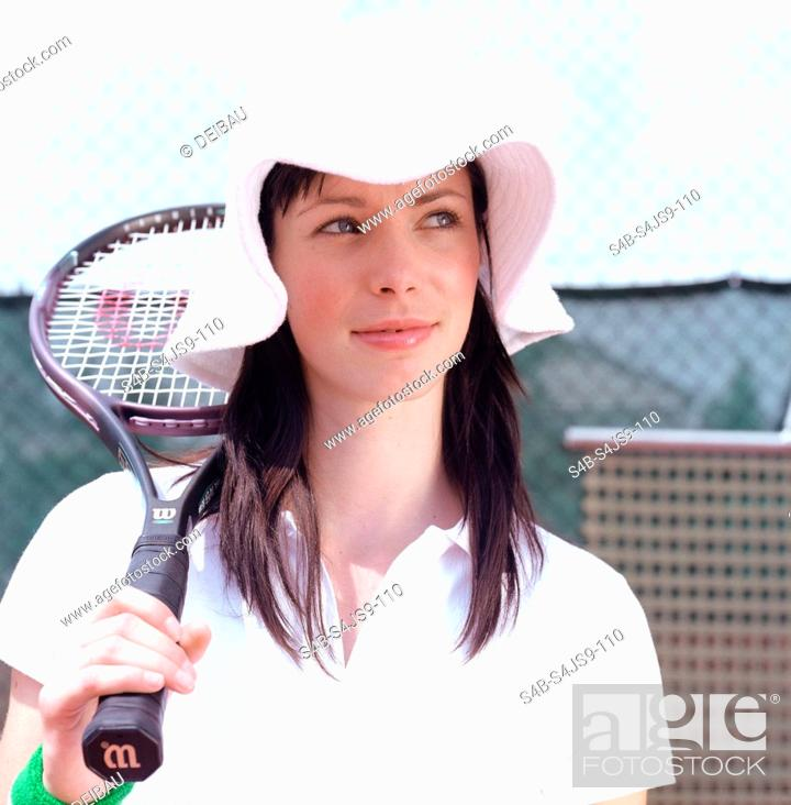 Stock Photo: Tennis Player Portrait.