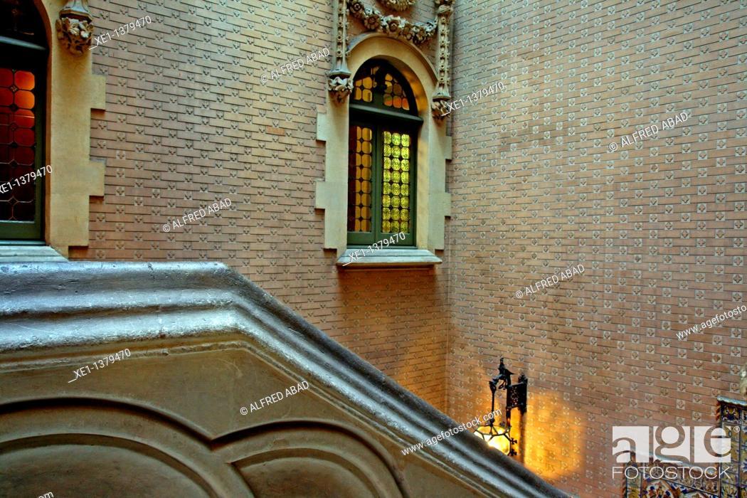 Stock Photo: Baro de Quadras palace, modernism, architect: Josep Puig i Cadafalch, Barcelona, Catalonia, Spain.
