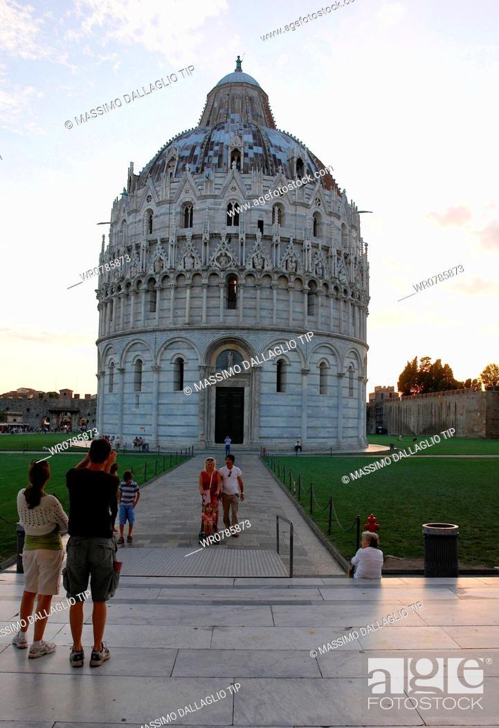 Imagen: Italy, Tuscany, Pisa. The baptistery.
