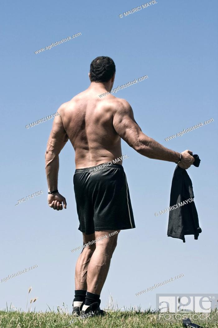 Stock Photo: Bodybuilder.