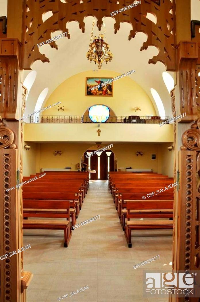 Stock Photo: Orthodox church interior.