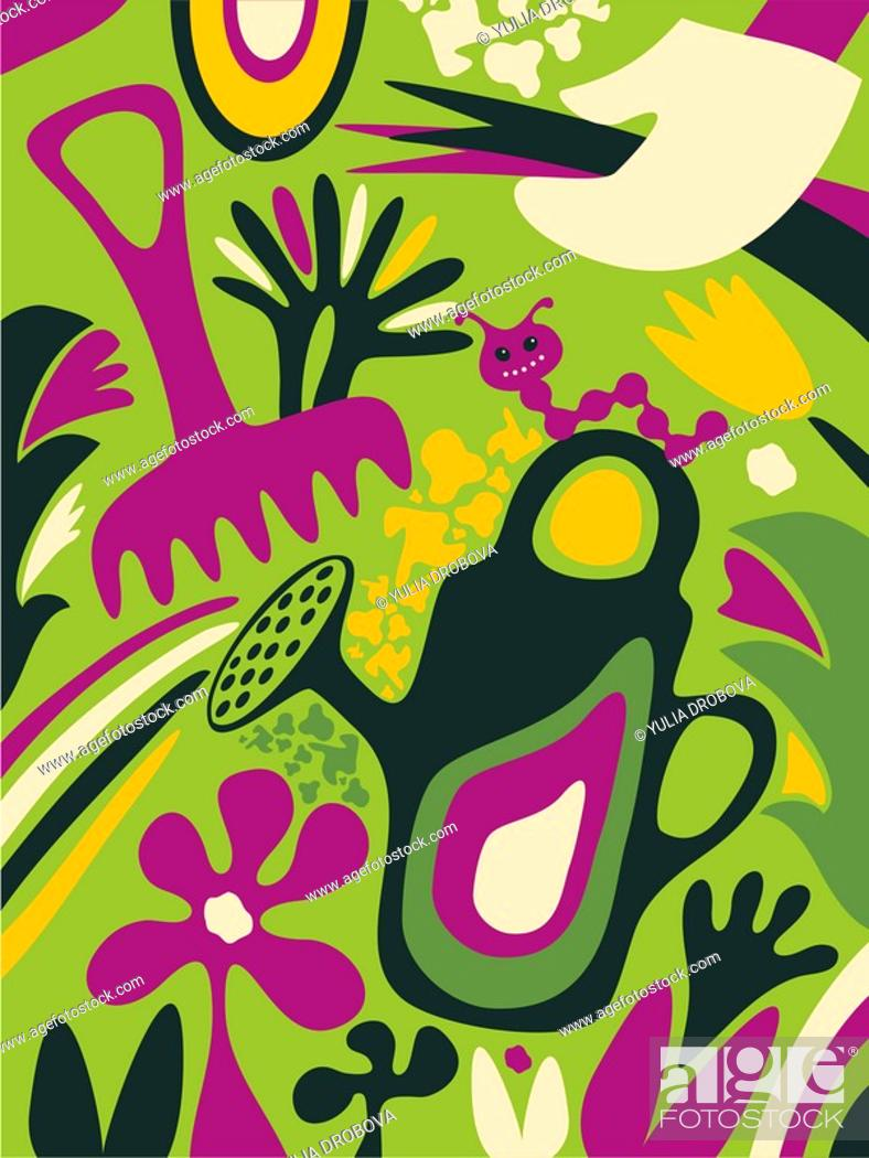 Stock Photo: A whimsical illustration about gardening.
