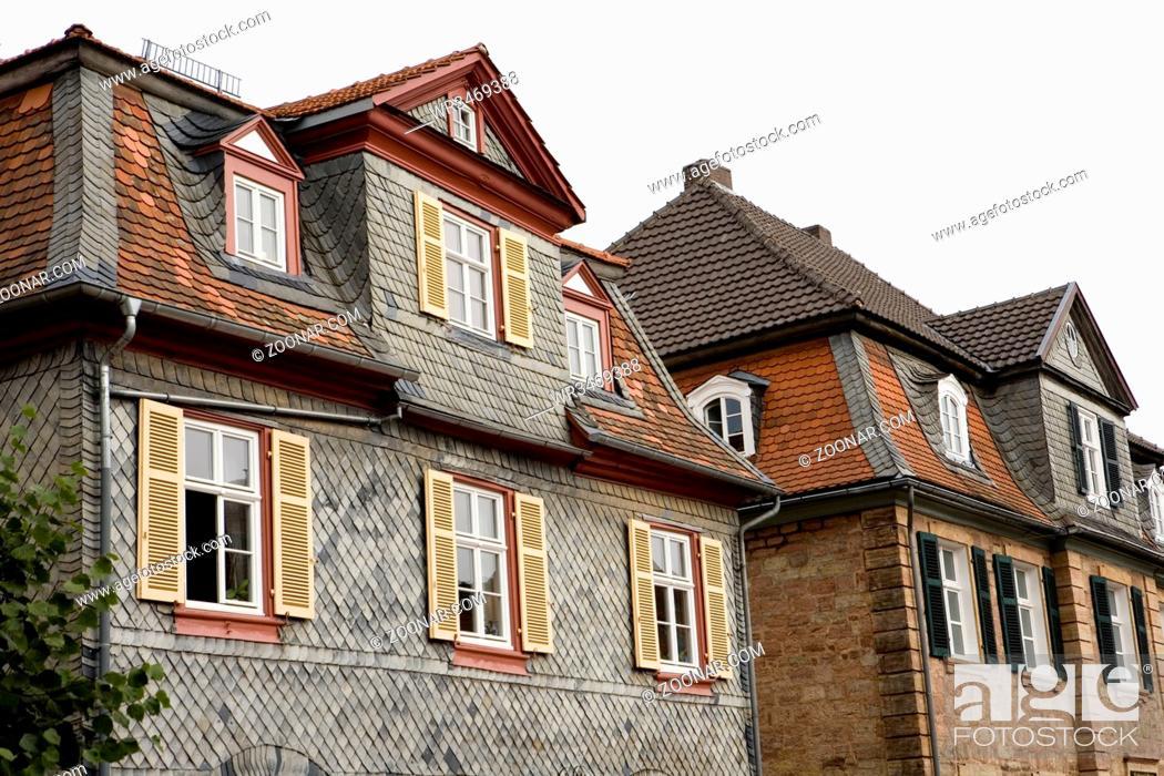 Stock Photo: Wohnhäuser in der Schlossstraße, Hessen, Deutschland, Bad Arolsen.