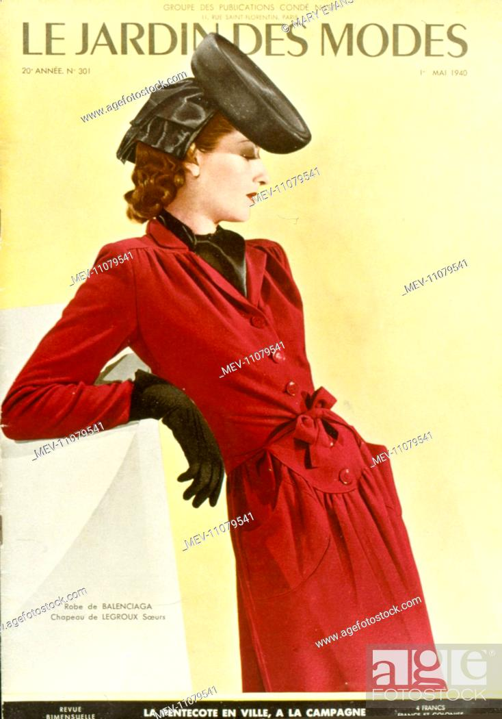 Cover design, Le Jardin des Modes, French women\'s fashion magazine ...
